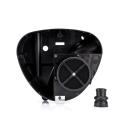 Tuning-Airbox - Gehäusemittelteil - Luftauslass ø 36 mm - inkl. FILU-Tuningluftfilter + Spezial-Ansaugmuffe - für Metallseitendeckel