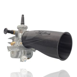Ansauggummi f. Mikuni Vergaser KR51/1 u. 2 mit LT Adapter zw. Vergaser und Zylinder Schwarz ZWM14
