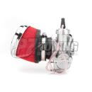 Luftfilter passend für Mikuni oder Pwk vergaser 42-58mm Anschluss gewinkelt 25 Grad
